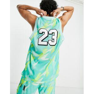 Jordan Nike Jordan Jumpman all over print basketball vest in multi