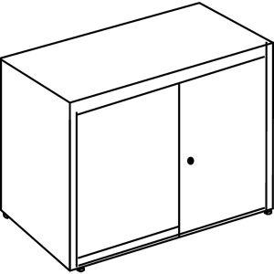 mauser Schuifdeurkast, h x b x d = 830 x 800 x 432 mm, kunststof blad, 1 legbord mauser