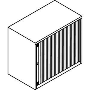 BISLEY Euro-roldeurkast, breedte 800 mm, 1 legbord BISLEY