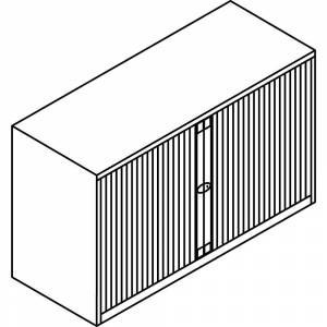 BISLEY Euro-roldeurkast, breedte 1200 mm, 1 legbord BISLEY