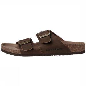 JACK & JONES Slipper Jfwcroxton Leather voor heren - Bruin - Maten: 40, 41, 42, 43, 44, 45 - Nieuwe collectie