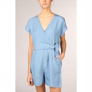 Vero Moda Jumpsuit Vmlaura Ss V-Neck Knot Ga voor dames - Blauw - Maten: XS, S, M, L, XL - Nieuwe collectie