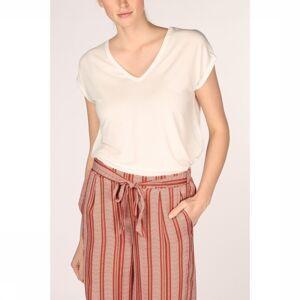 Vero Moda T-Shirt Vmava Ss V-Neck Vma Noos voor dames - Wit - Maten: XS, S, M, L - Nieuwe collectie