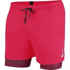 Nike Short Flex Stride 2-in-1 voor heren - Rood - Maten: S, M, L, XL