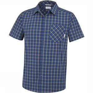Columbia Hemd Triple Canyon Sleeve voor heren - Blauw/Geel - Maat: XXL