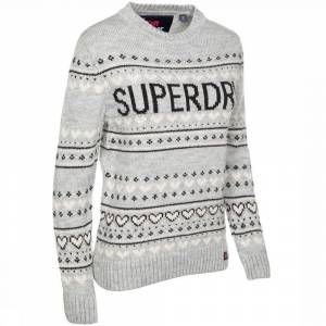 Superdry Trui Cleveland Fairsile Knit voor dames - Grijs - Maat: XS