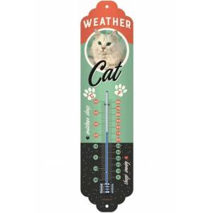 ART Nostalgic Art Gadget Weather Cat Thermometer - Transparant/Transparant