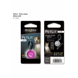 Nite Ize Petlit Dog Led Collar Light Jewel - Roze