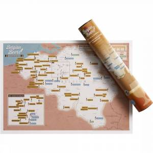 Maps International Gadget Belgian Beers Collect And Scratch