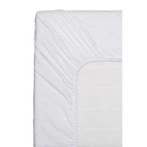 Easy hoeslaken katoen - wit - 90x200 cm - Leen Bakker
