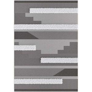 Leen Bakker Tapijt Zastron - zwart - 120x170 cm - Leen Bakker