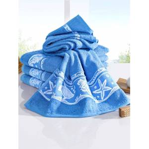 Webschatz Handdoeken Schelp Webschatz lichtblauw