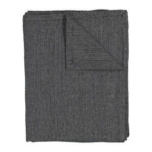 HEMA Tafelkleed 140x240 Chambray Katoen Zwart/wit (zwart/wit)