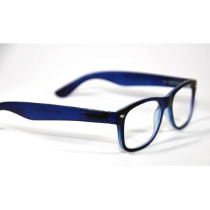 Melleson Optics Leesbril Wayfarer Mat Blauw +2.50