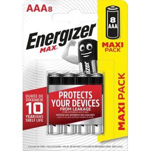 Energizer batterijen Max AAA, blister van 8 stuks