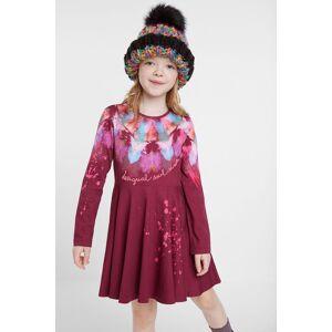 Desigual Katoenen jurk met aquarelprint - RED - 13/14