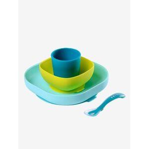 BEABA Serviesset 4 items silicone BEABA blauw
