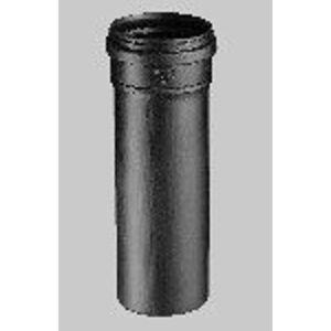 Ubbink Rolux pp verlengstuk 80 met mof en ring 2000 mm zwart 0222932