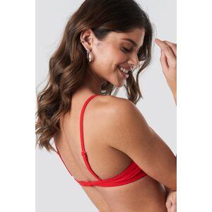 NA-KD Swimwear Cup Shape Bikini Top - Red