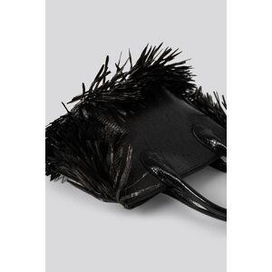 NA-KD Accessories Fringe Beach Bag - Black