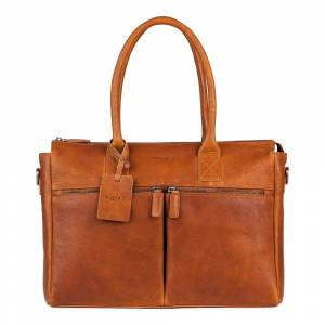 Burkely Antique Avery Valerie Laptoptas Cognac 15.6 inch