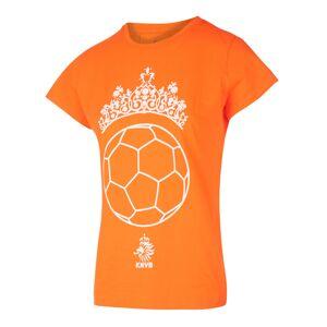 KNVB - Nederlands Elftal - Leeuwinnen T-shirt Meisjes - Tiara Bal - Eigen Naam - Oranje - 152-158