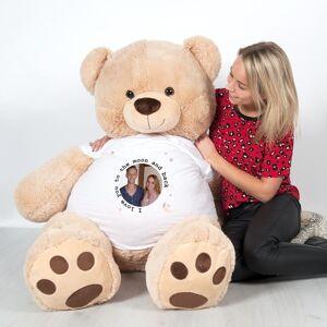 YourSurprise Giga knuffelbeer met bedrukt T-shirt