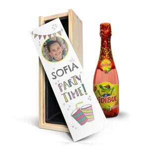 YourSurprise Kinderchampagne in bedrukte kist - Kidibul (750ml)