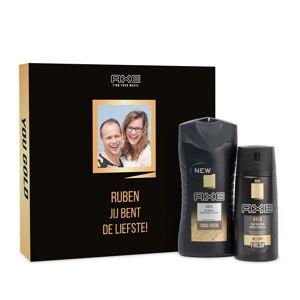 YourSurprise Gepersonaliseerde Axe geschenkset - Bodywash & deodorant - Gold