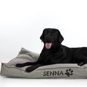 YourSurprise Hondenkussen met naam bedrukken - L - Taupe