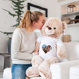 YourSurprise Mega knuffelbeer met bedrukt T-shirt