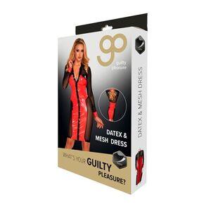 Guilty Pleasure Datex en mesh doorknoopjurk
