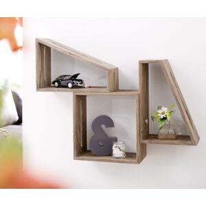DELIFE Designer-boekenplank Wyatt 70x55 cm sheesham natuur set van 3
