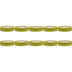 BES LED Voordeelpak Isolatietape 10 Pack - Yurga - Groen/Geel - 20mmx20m