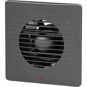 BES LED Badkamer - Toilet - Ventilator - 158mm - 12W - 100m3 - Mat Zwart