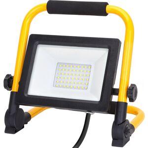 BES LED LED Bouwlamp met Statief - Aigi Esol - 30 Watt - Helder/Koud Wit 6500K - Spatwaterdicht IP44 - Kantelbaar
