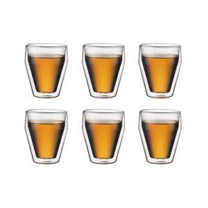 Bodum TITLIS Set van 6 glazen, dubbelwandig, middel, 0.25 l, stapelbaar  Transparant