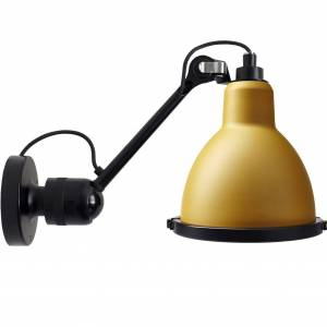 DCW éditions Lampe Gras N304 XL Outdoor Seaside wandlamp black geel