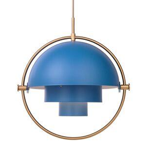 Gubi Multi-Lite hanglamp messing/blauw