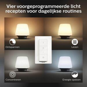 Philips Hue Wellness tafellamp - White Ambiance - zwart (incl. DIM switch)