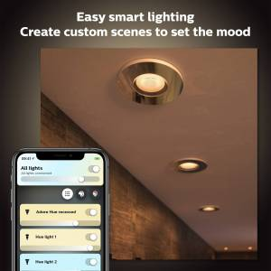 Philips Hue Adore badkamer inbouwspot - White Ambiance - chroom 3-spots (incl. DIM switch)