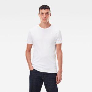 G-Star RAW Heren Basic T-Shirt 2-Pack Wit - M L XS XL XXS XXL S