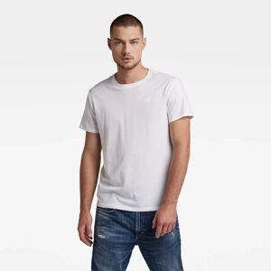 G-Star RAW Heren Basic Heather T-Shirt 2-Pack Wit - L XXS XXL XS XL S M