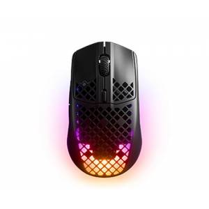 SteelSeries Aerox 3 Wireless - Gaming Mouse - Ultra lightweight 66g - 200 Hour Battery Life - Quantum 2.0 Wireless - AquaBarrier™ Protection - TrueMove Air Sensor