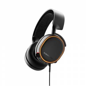SteelSeries Arctis 5 Gaming Headset (Black) - Made for PC - RGB lighting - Bidirectional noise-cancelling microphone - Low distortion speaker drivers - DTS surround sound