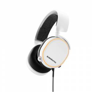 SteelSeries Arctis 5 White Gaming Headset 2019 Edition - RGB Illumination - 7.1 Surround Sound - Discord-certified ClearCast bidirectional microphone