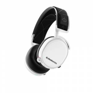 SteelSeries Arctis 7 Wireless Gaming Headset (White) - Lossless 2.4 GHz wireless - Bidirectional noise-cancelling microphone - 24-hour battery life - DTS surround sound