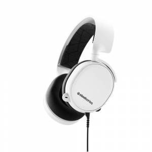 SteelSeries Arctis 3 Gaming Headset (White) - Bidirectional noise-cancelling microphone - For PC, Mac, Xbox, PlayStation, Mobile and VR - Windows Sonic Spatial Audio