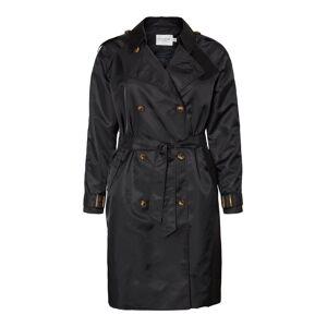 JUNAROSE Lange Trenchcoat Dames Zwart