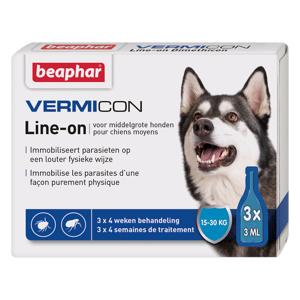 BEAPHAR Vermicon Line-On middelgr. hond 3x3ml